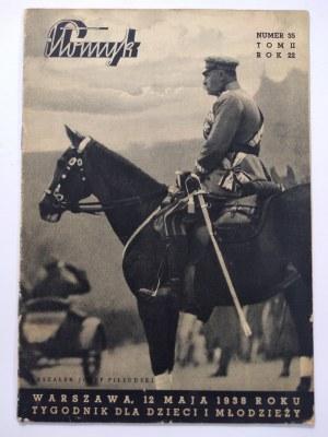 Płomyk. Rok XXII nr 35.Tom II.12.V.1938 r. tygodnik dla dzieci i młodzieży.