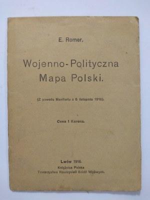 Romer, Wojenno-Polityczna Mapa Polski, 1916 r.