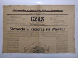 Czas 1927 r. nadzwyczajny numer ku czci Juliusza Słowackiego.