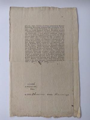 Pismo Biskupa Wileńskiego Jędrzweja Benedykta Kłagiewicza w sprawach bieżących.
