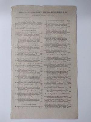 Dodatek drugi do Gazety Kuryera Litewskiego 1830 r. n.56.