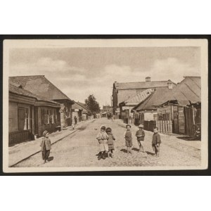 Kowel. Ulica Bawarska (w głębi po prawej stronie synagoga).