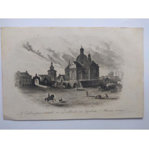 Żółkiew. Staloryt z La Pologne Leonarda Chodźki. Paris 1835-1836.