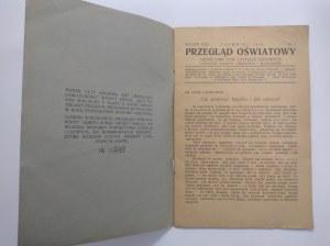Przegląd Oświatowy.Miesięcznik Towarzystwa Czytelni Ludowych.VI 1929 r..