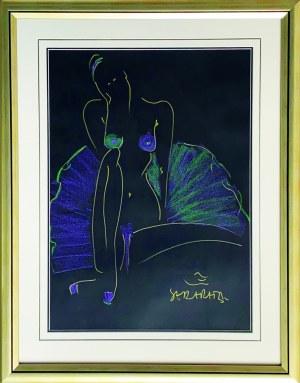 Joanna Sarapata ( 1962 ), Green and Purple Ballerina 2021