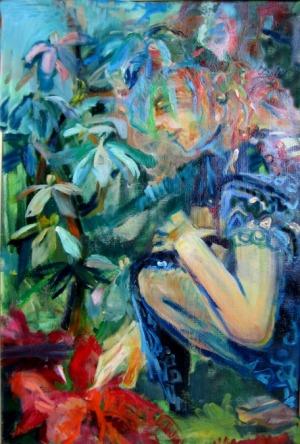 Anna Borcz, W ogrodzie