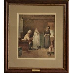 Johnny Millar (1885-1939), Błogosławieństwo w domu dziadków przed ślubem