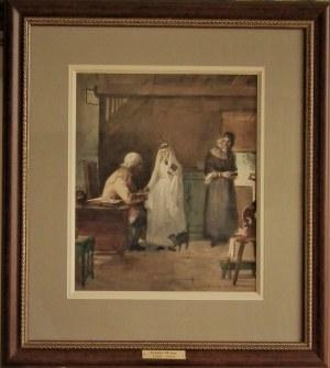 Jonnhy Millar(1885-1939) ,Błogosławieństwo w domu dziadków przed ślubem