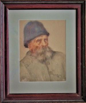 K.Wołkowski(XIX/XX),Portret mężczyzny,1930