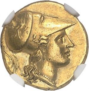 Sicile, Syracuse, Agathoclès (317-289 av. J.-C.). Statère d'or (double décadrachme) ND (304-285 avant J.-C.), Syracuse.