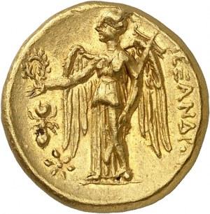 Macédoine (royaume de), Cassandre (305-297 av. J.-C.). Statère d'or au nom d'Alexandre le Grand ND (310-275 av. J.-C.), atelier incertain, Grèce ou Macédoine.
