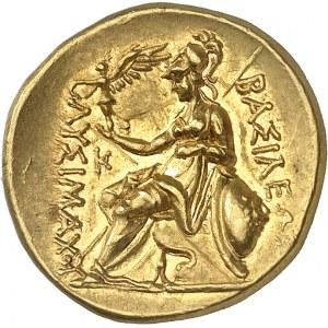 Thrace (royaume de), Lysimaque (323-281 av. J.-C.). Statère d'or posthume ND (milieu IIIe s. av. J.-C.), atelier indéterminé.