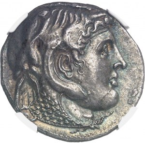 Royaume lagide, Ptolémée Ier (305-285 av J-C). Tétradrachme à la tête casquée ND (après 304 av. J.-C.), Alexandrie.