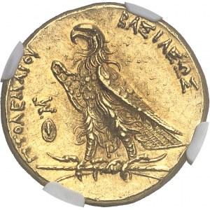 Royaume lagide, Ptolémée II (283-246 av. J.-C.). Pentadrachme Or ou trichryson (triple statère) ND (275-272), Alexandrie.