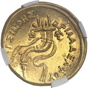 Royaume lagide, Ptolémée V (203-176 av. J.-C.) et Cléopâtre Ière. Octodrachme d'or ou mnaieion ND (après 193-192 avant J.-C.), Alexandrie.