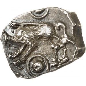 Rutènes. Drachme à la petite tête bouclée et au sanglier c.121-52 av. J.-C.