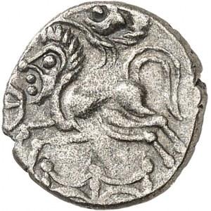 Osismes (fin du IIe s. - Ière moitié du Ier s. av. J.-C.). Quart de statère à la barrière c.80-50 av. J.-C.