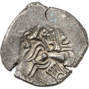Coriosolites (fin de la Ière moitié du Ier siècle av. J.-C.). Statère à la lyre, nez orné c.100-50 av. J.-C.