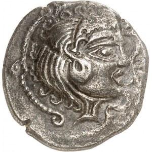 Vénètes ou Riedons. Statère de billon d'argent, classe III, au nez droit ND (80-50 av. J.-C.).