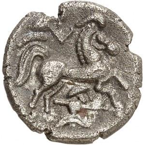 Namnètes/Saintonge. Quart de statère de billon (ou drachme ?) ND (130-50 av. J.-C.).