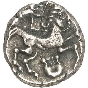 Armorique orientale (Riedones ?). Quart de statère à la lyre verticale, classe II ND (c.60-50 av. J.-C.).