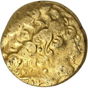 Aulerques Éburovices (IIe siècle av. J.-C.). Hémistatère au loup c.IIe-Ier siècle av. J.-C.