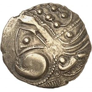 Aulerques Éburovices (fin de la guerre des Gaules). Hémistatère au sanglier ND (80-50 av. J.-C.).