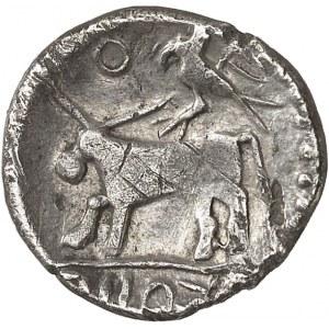 Durocasses ou Carnutes. Drachme au taureau et à l'oiseau ND (150-100 av. J.-C.).