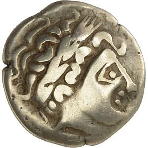 Séquanes-Helvètes. Quart de statère à la fleur ou à la rouelle ND (IIe-Ier s. av. J.-C.).