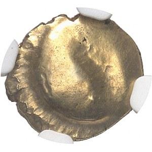 Ambiens ou Morins. Quart de statère à l'arbre et à la ligne brisée ND (c.60 av. J.-C.).