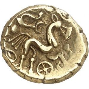 Suessions (fin du IIe s. av. J.-C. jusqu'à la Guerre des Gaules). Statère d'or à l'ancre c.65-35 av. J.-C.
