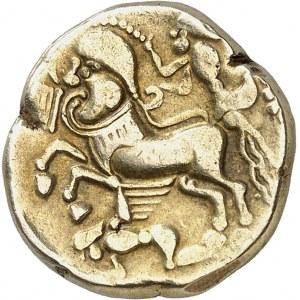 Trévires. Statère classe I, au personnage ailé ND (180-150 av. J.-C.).