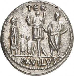 Aemilia, L. Aemilius Lepidus Paullus. Denier ND (62 av. J.-C.), Rome.