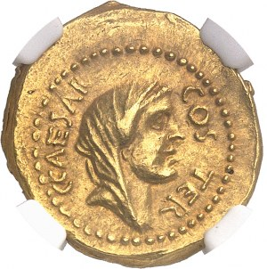 Jules César (60-44 av. J.-C.). Aureus ND (46 av. J.-C.), Rome.