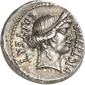 Jules César (60-44 av. J.-C.). Denier ND (46 av. J.-C.), Utica ?