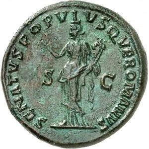 Trajan (98-117). Dupondius 115, Rome.