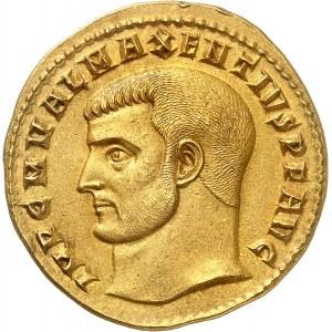 Maxence (306-312). Médaillon de 4 aurei (quaternio), commémorant la restauration du temple de Vénus et de Rome ND (c.308), Rome.