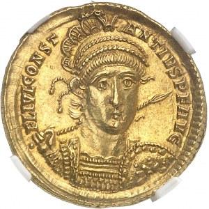 Constance II (324-361). Solidus 355-357, 5e officine, Rome.