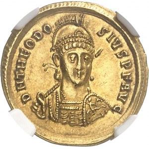 Théodose II (402-450). Solidus 402, Constantinople.