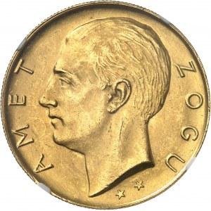 Zog Ier (1925-1939). Essai de 100 franga (2 étoiles) 1927, R, Rome.