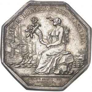 Louis XV (1715-1774). Jeton pour la Compagnie royale d'Afrique de Marseille par N. Gatteaux 1774, Aix-en-Provence.