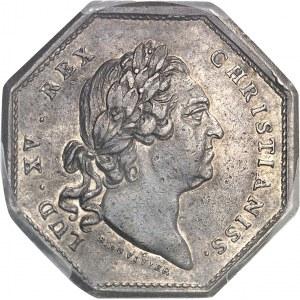 Louis XV (1715-1774). Jeton pour la Compagnie royale d'Afrique de Marseille par N. Gatteaux et B. Duvivier 1774, Aix-en-Provence.