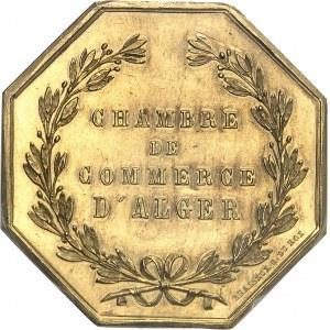 Second Empire / Napoléon III (1852-1870). Jeton en Or de la Chambre de Commerce d'Alger par Brasseux ND (après 1880), Paris.