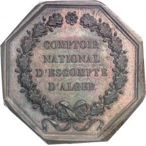 IIe République (1848-1852). Jeton du Comptoir national d'escompte d'Alger 1850, Paris.
