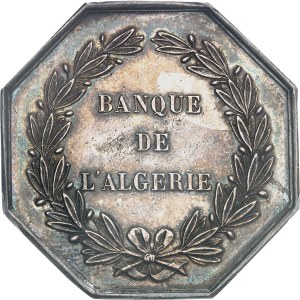 Second Empire / Napoléon III (1852-1870). Jeton de la Banque de l'Algérie ND (1860-1879), Paris.