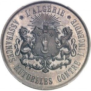 Second Empire / Napoléon III (1852-1870). Épreuve uniface de revers du jeton pour les Assurances mutuelles contre l'incendie ND (1860-1879), Paris (Stern).