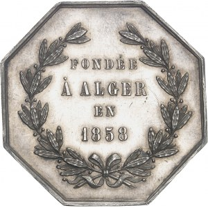 Second Empire / Napoléon III (1852-1870). Jeton des Messageries générales de l'Algérie 1858, Paris.