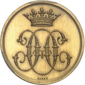 Second Empire / Napoléon III (1852-1870). Jeton d'Or du Conseil des domaines de Monsieur le Duc d'Aumale, ancien gouverneur d'Algérie ND (1860-1879), Paris.
