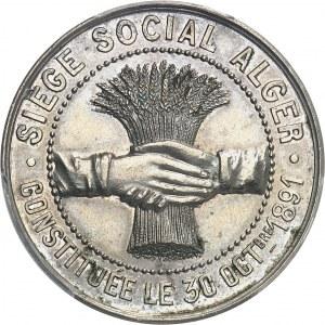 IIIe République (1870-1940). Jeton de L'Ardèche algérienne, société de secours mutuels 1891, Paris.