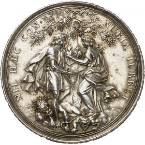 Augsbourg (ville libre de). Médaille de mariage, par Philipp Heinrich Müller ND (1680-1718), Augsbourg.